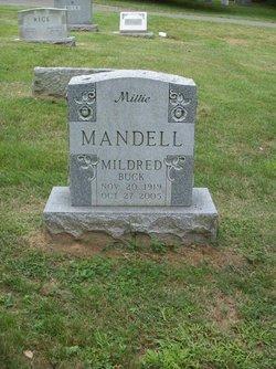 """Mildred V. Sherbert """"Millie"""" <I>Buck</I> Mandell"""