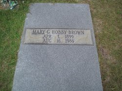 Mary G <I>Hobby</I> Brown