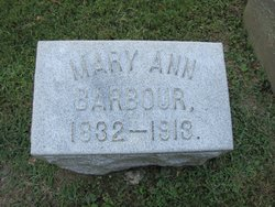 Mary Ann <I>Coleman</I> Barbour