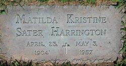 Matilda Kristine <I>Sater</I> Harrington