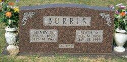 "Henry Daniel ""Bud"" Burris"
