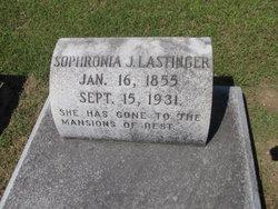 Sophronia J <I>Williams</I> Lastinger