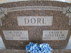 Mary Jane <I>Graham</I> Dorl