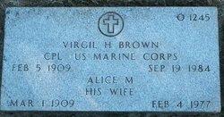 Alice M Brown