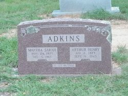 Sarah Martha <I>Glover</I> Adkins