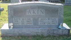 """Katherine """"Katie"""" <I>McCabe</I> Akin"""