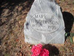 Mary B Thomlinson
