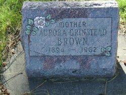 Aurora A. <I>Grinstead</I> Brown