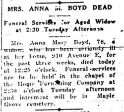 Anna Mary <I>Cline</I> Boyd