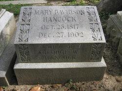 Mary Holliday <I>Davidson</I> Hancock