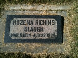 Rozena Maria <I>Richins</I> Slaugh