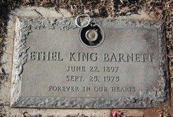 Ethel <I>King</I> Barnett