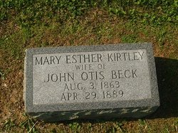 Mary Esther <I>Kirtley</I> Beck