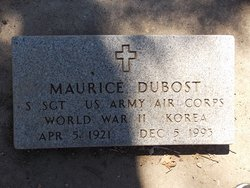 Sgt Maurice William Dubost