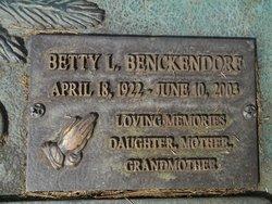 Betty L <I>Brassfield</I> Benckendorf