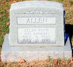 Lelah Ruth <I>Gardner</I> Allen