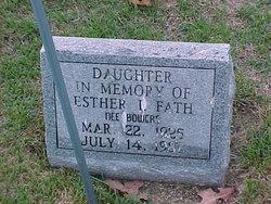 Esther I. A. <I>Bowers</I> Fath