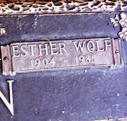 Esther <I>Wolf</I> Allen