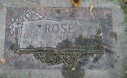 Cindy Ann <I>Warren</I> Rose