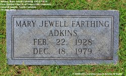 Mary Jewell <I>Farthing</I> Adkins