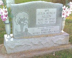 Julia <I>Bunch</I> Allen