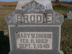 """Mary W. """"Mollie"""" <I>Paris</I> Brodie"""