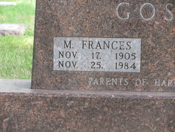 Mary Frances <I>Morey</I> Gosch