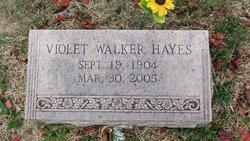 Violet <I>Walker</I> Hayes