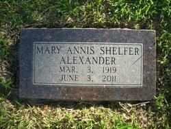 Mary Annis <I>Shelfer</I> Alexander
