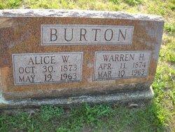 Alice <I>White</I> Burton