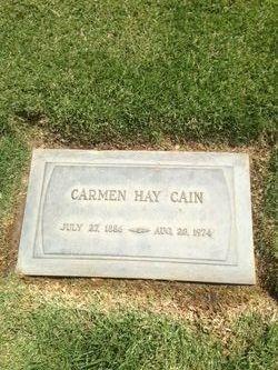 Carmen <I>Hay</I> Cain