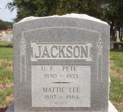"Ulysses Franklin ""Pete"" Jackson, I"