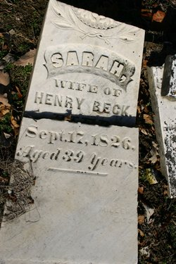 "Sarah ""Sally"" <I>Jean</I> Beck"