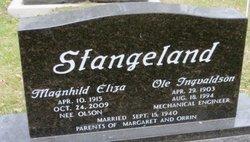 Magnhild E. <I>Olson</I> Stangeland