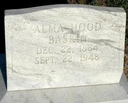 Alma Elizabeth <I>Hood</I> Baskin