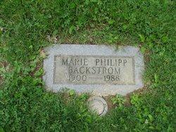 Marie <I>Philipp</I> Backstrom