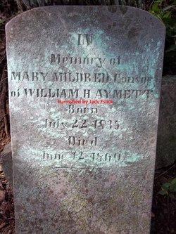 Mary Mildred <I>Abernathy</I> Aymett