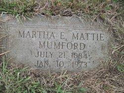 Martha E Mattie Mumford