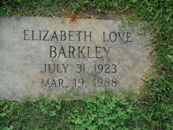 Elizabeth <I>Love</I> Barkley