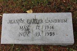 Jeanne <I>Carter</I> Landrum