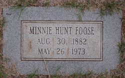 Minnie <I>Hunt</I> Foose