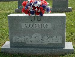 Nell A <I>Adams</I> Addington
