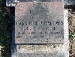 Carrie Etta <I>Prewitt</I> Baldwin
