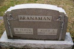 Alice A <I>Stewart</I> Branaman