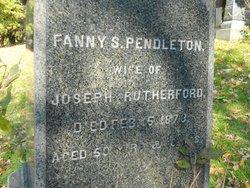 Fanny Sabrinia <I>Pendleton</I> Rutherford