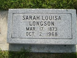 Sarah Louisa <I>Johnson</I> Longson