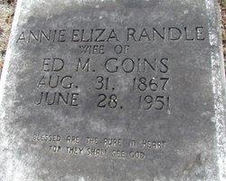 Anne Eliza <I>Randle</I> Goins