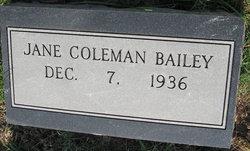 Jane Elizabeth <I>Coleman</I> Bailey