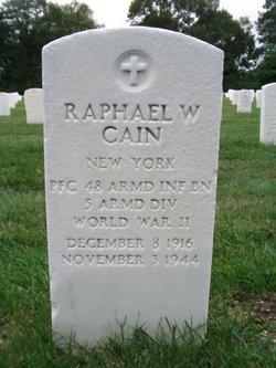 PFC Raphael W Cain