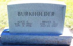 Alice C <I>Hedlund</I> Burkholder